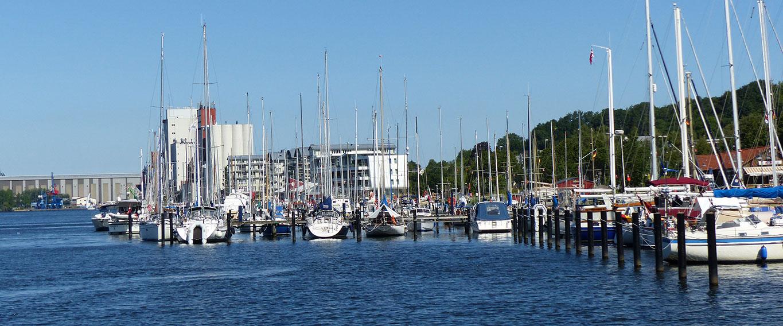 Yachthafen in Flensburg